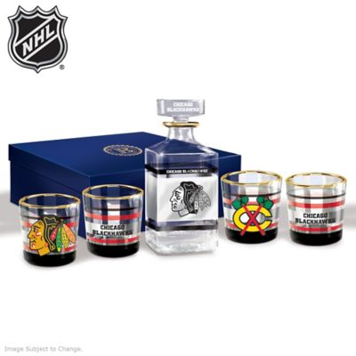 Chicago Blackhawks® Five-Piece Decanter And Glasses Set by