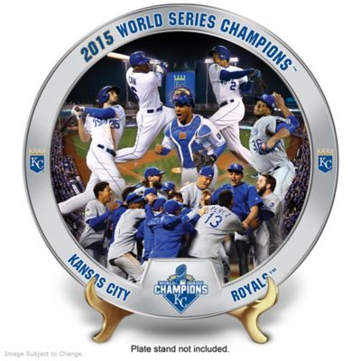 Kansas City Royals 2015 World Series Commemorative Plate by