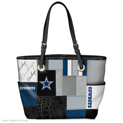 Cowboys For The Love Of The Game Tote Bag With Team Logos by