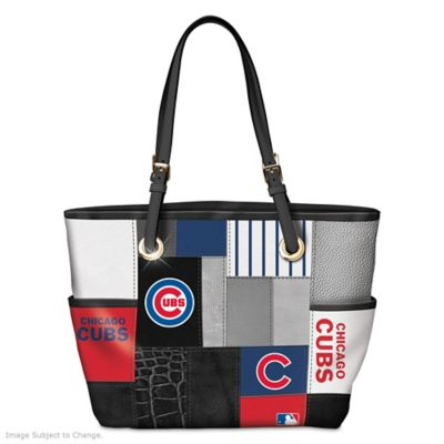 Chicago Cubs Patchwork Tote Bag With Team Logos by