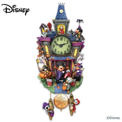 Disney Halloween Wall Clock With Lights And Music by