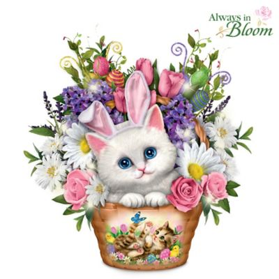 Kayomi Harai Always In Bloom Kitty Cat Table Centerpiece by