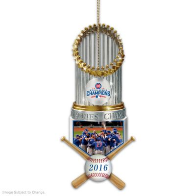 Cubs 2016 World Series Champions Christmas Ornament by