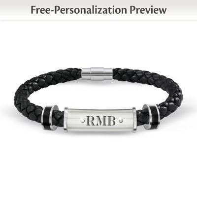 My Grandson, My Pride, My Joy Personalized Diamond Bracelet by