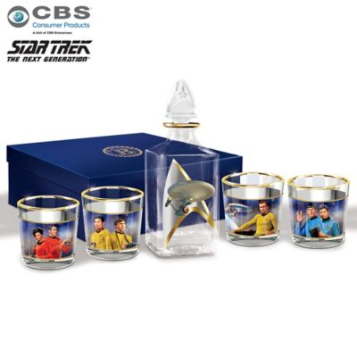 STAR TREK Legacy 5-Piece Decanter Set With Glasses by