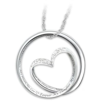 Forever In My Heart 8-Diamond Infinity Pendant For Daughter by
