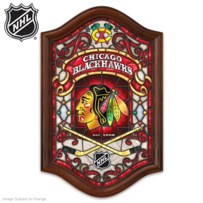 Chicago Blackhawks® Illuminated Stained-Glass Wall Decor by