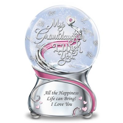 My Granddaughter, I Wish You Musical Glitter Globe by