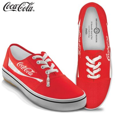 COCA-COLA Women's Canvas Shoes With Coke Bottle Charm by