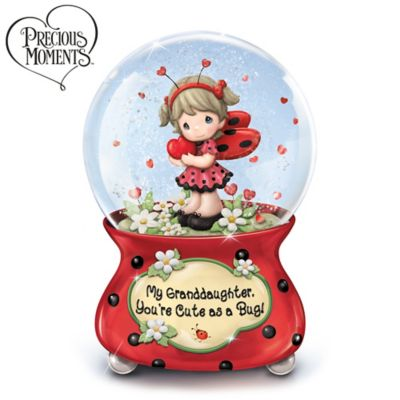 Precious Moments, Granddaughter Cute As A Bug Musical Glitter Globe by
