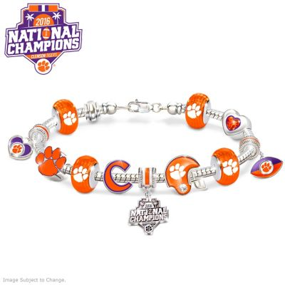 Clemson Tigers 2016 National Champions Charm Bracelet by
