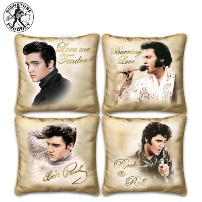 Elvis Presley Golden Moments Four Pillow Collection by