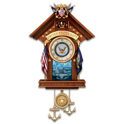 United States Navy Wall Clock With Music by