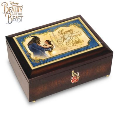 Disney Beauty And The Beast Music Box With Rose Charm by