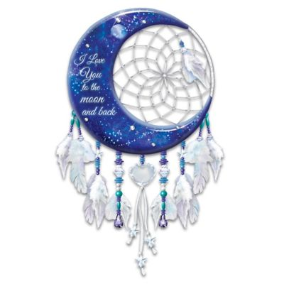 I Love You To The Moon And Back Dreamcatcher Wall Decor by