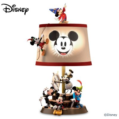 Disney Mickey Mouse Through The Years Sculptural Table Lamp