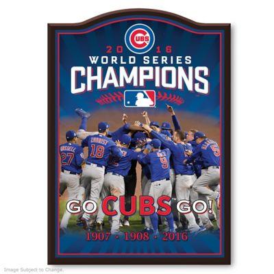 Chicago Cubs 2016 World Series Champions Wall Plaque by
