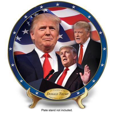 President Donald Trump Commemorative Collector Plate by
