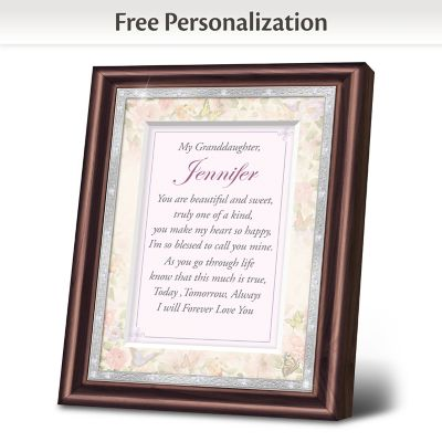 Granddaughter, I Love You Personalized Frame by