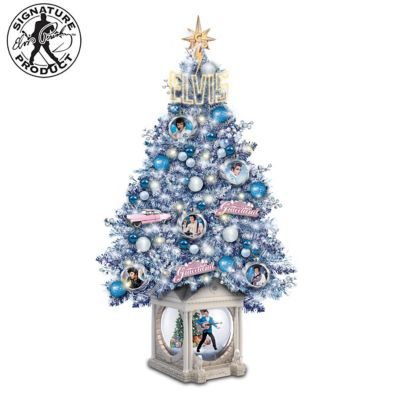 Elvis - Christmas Live At Graceland Tabletop Tree by