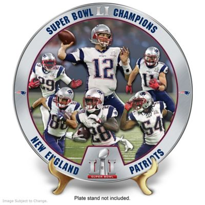 New England Patriots Super Bowl LI Champions Collector Plate by
