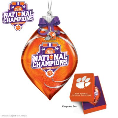 Clemson 2016 National Champions Lighted Glass Ornament by