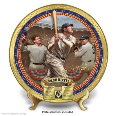 Babe Ruth Commemorative Porcelain Collector Plate by