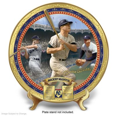 Mickey Mantle Commemorative Porcelain Collector Plate by