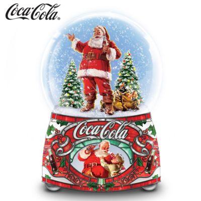 COCA-COLA Share the Joy Illuminated Musical Glitter Globe by
