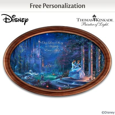 Disney Cinderella Framed Collector Plate With 2 Names by