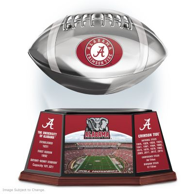 Crimson Tide Levitating Football Lights Up And Spins by