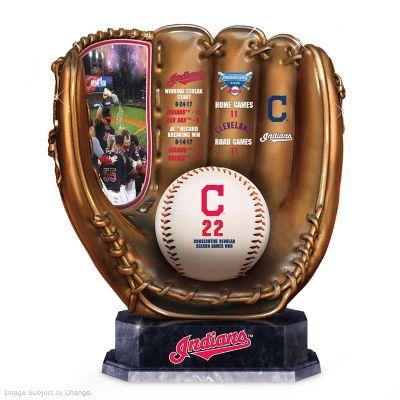 Cleveland Indians 2017 Winning Streak Bronze Glove Sculpture by