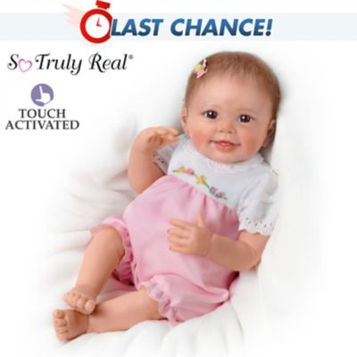 Lifelike Interactive Baby Doll With Moving Feet by