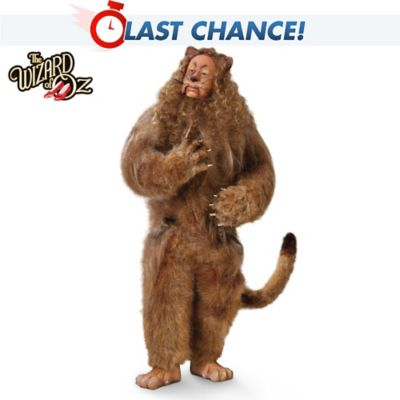 The Wizard Of Oz Cowardly Lion Singing Collector Doll by