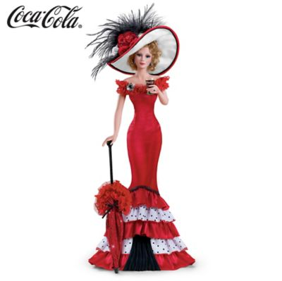 Victorian-Inspired COCA-COLA Poseable Porcelain Figurine by