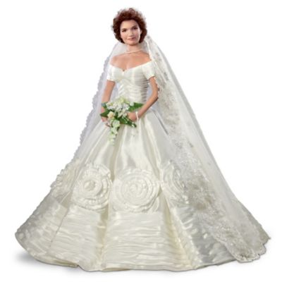 Jacqueline Kennedy Bisque Porcelain Poseable Bride Doll by