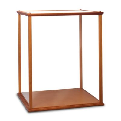 Wood And Plexi-Glass Display Case For Collectible Dolls by