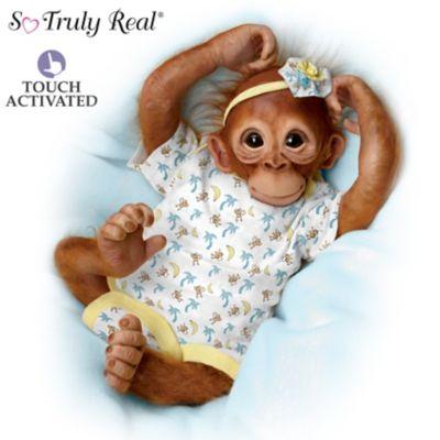 Jane Baffi Precious Zara Monkey Doll Breathes With Heartbeat by