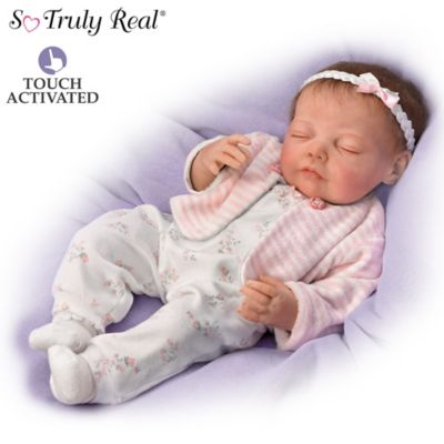 Jannie DeLange Poseable Touch-Activated Lifelike Baby Doll by