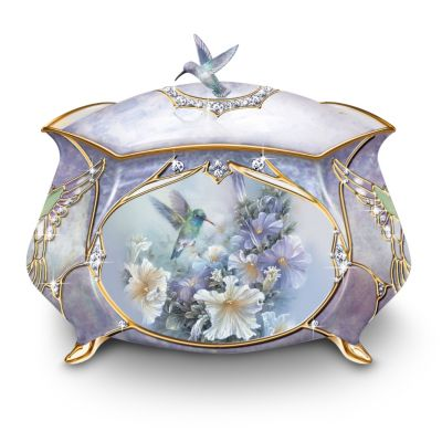 Lena Liu Hummingbirds Porcelain Music Box by