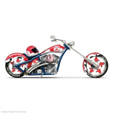 Boston Red Sox Home Run Racer Motorcycle And Helmet Figurine by