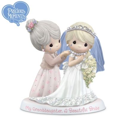 Precious Moments Granddaughter Bride Figurine With Poem Card by