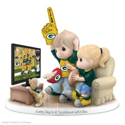 Precious Moments Green Bay Packers Fan Porcelain Figurine by
