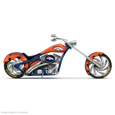 Denver Broncos Chopper With Official Logos And Colors by