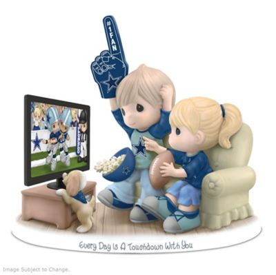 Precious Moments Dallas Cowboys Fan Porcelain Figurine by