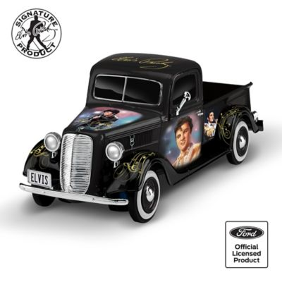 Elvis Tribute 1:36-Scale Sculpted Ford Truck With Portraits by