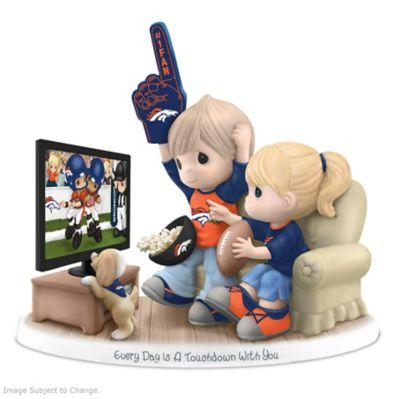 Precious Moments Denver Broncos Fan Porcelain Figurine by