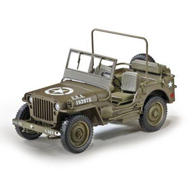 1:18-Scale 1/4-Ton U.S. Willys Jeep World War II Diecast by