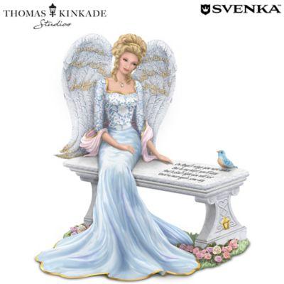 Thomas Kinkade Heaven's Embrace Angel With Swarovski Crystal by