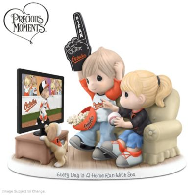 Precious Moments Baltimore Orioles Fan Porcelain Figurine by